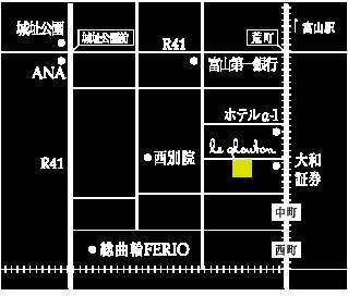 ワイン食堂ルグルトン地図